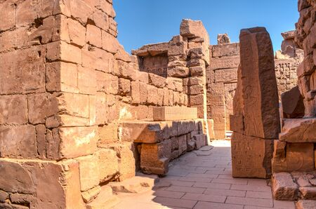 Famous Karnak temple complex of Amon Ra in Luxor Stock fotó