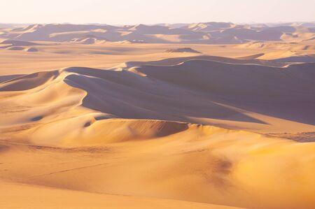 Golden sand in Sahara desert in Egypt