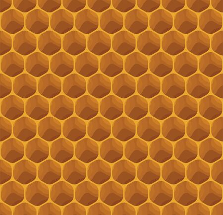 Completely seamless honeycomb texture pattern, honey cells
