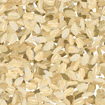 Rolled oats background seamless vector illustration pattern