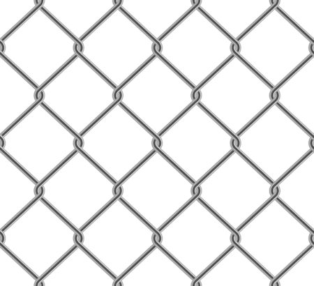 Seamless wired chain link fence pattern realistic style Иллюстрация