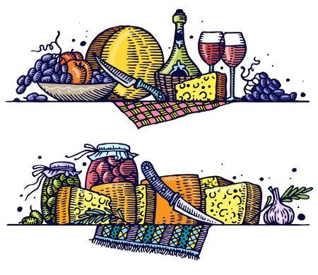 edam: Still life with cheese. Vector. Illustration