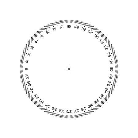 Winkelmesser 360 Grad Messkreisskala. Messskala messen
