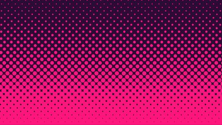 Halftone gradient pattern vertical vector illustration. Pink dark blue dotted, blue halftone texture. Pop Art blue pink halftone, comics Background. Background of Art.