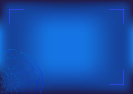 Digital technology background. Blue Sci fi futuristic abstract background. Modern technology concept. Template for presentation, banner, flyer, report, poster, magazine A4 Vector