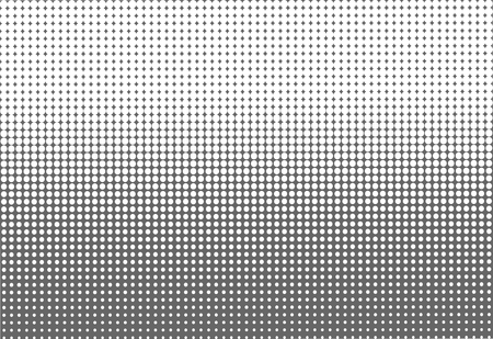 Gradient halftone dots background. Pop art template, texture for textile, business cards. Vector illustration