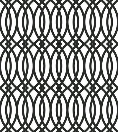 Abstract seamless geometric pattern. Seamless vector background. Black and white. Illustration