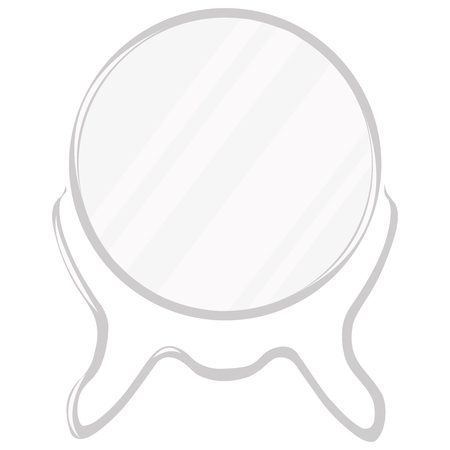Table Mirror With A Vintage Stand. A Flat Icon. Vector Illustration Stock  Vector