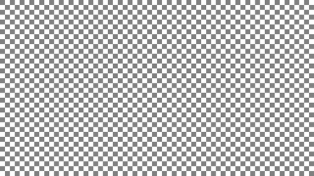 Photoshop background 1920x1080 ppi. Gray and white squares background. Gray and white cage. Chess background. Photoshop cage pattern. Vector illustration Illustration