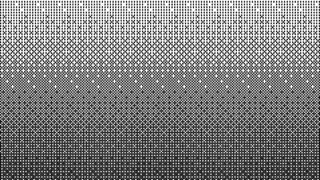 Halftone gradient pattern horizontal vector illustration. Black white dotted halftone background. Fabric texture. Vectores