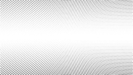 Halftone gradient pattern vector illustration. Black white dotted halftone texture. Pop Art black white halftone Background. Background of Art.