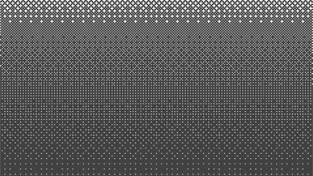 Halftone gradient pattern horizontal vector illustration. Ornament pattern. Black white dots background. Fabric texture. Geometric background. Abstract dots background.
