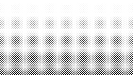Halftone vector background. Monochrome halftone pattern. Abstract geometric dots background. Pop Art comic gradient black white texture. Design for presentation banner, flyer, business cards, stickers  イラスト・ベクター素材