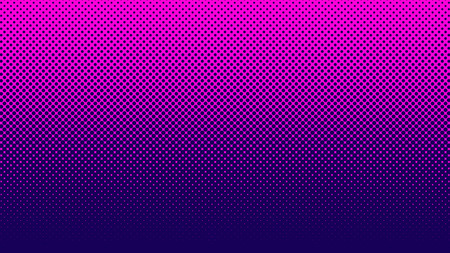 Halftone pattern. Horizontal vector illustration. Pink dots, blue halftone texture. Color halftone gradient. Pop Art blue pink comics Background. Bright neon Dots Background.