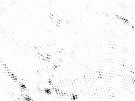 Halftone gradient pattern. Abstract halftone dots background. Monochrome dots pattern. Grunge wave texture. Pop Art Comic small dots. Radial twisted dots. Design for presentation, report, flyer, cover