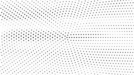 Halftone gradient pattern. Abstract halftone dots background. Monochrome dots pattern. Grunge radial texture. Pop Art, Comic small dots. Design for presentation, business cards, report, flyer, cover Stock Illustratie