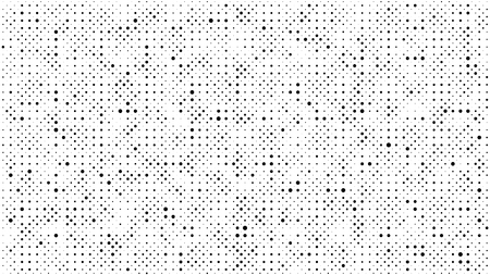 Halftone gradient pattern. Abstract halftone dots background. Monochrome dots pattern. Grunge dirty texture. Vector halftone texture. Pop Art, Comic small dots. Template for cover, banner, flyer