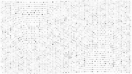 Motif dégradé de demi-teintes. Fond de points de demi-teinte abstraite. Motif de points monochromes. Grunge texture sale. Texture de demi-teinte de vecteur. Vague de points torsadés. Pop Art, petits points comiques. Éléments de design