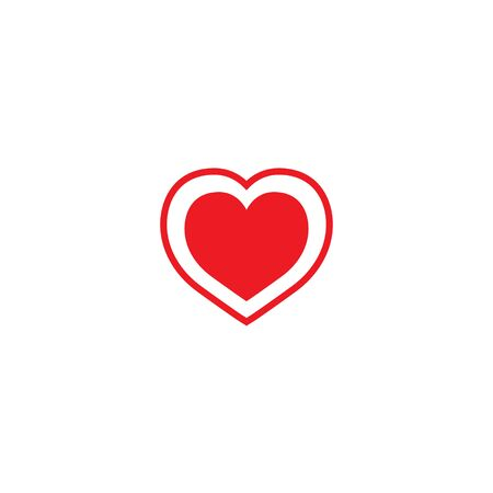 Heart icon. Like icon. Follow icon. Red heart. Follow sign for social networks.  イラスト・ベクター素材
