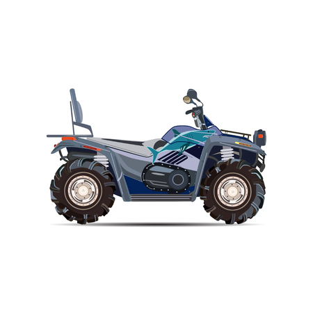 Vector illustration of quad bike in flat design