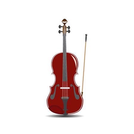 concerto: Vector illustration of violin in flat style