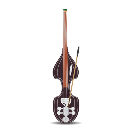 Vector illustration of electric double bass in flat style