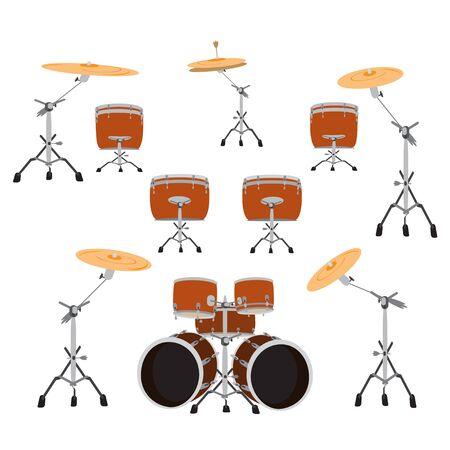Drumstel, vectorillustratie