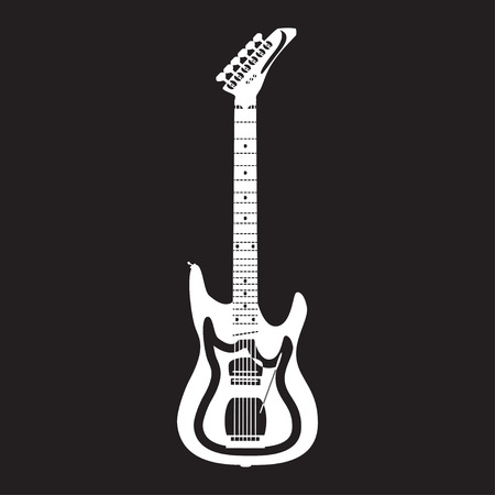 Electric guitar, vector illustration in flat style Illustration