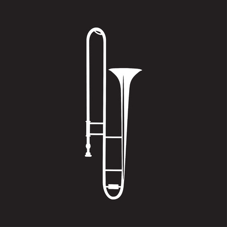 Trombone flat vector illustration