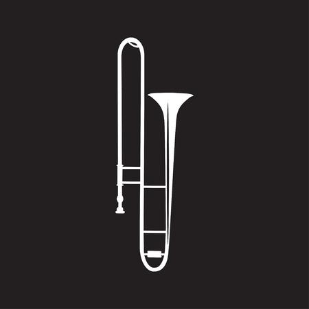Trombone plat illustration vectorielle Banque d'images - 81668780