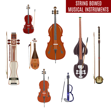 Set of string bowed musical instruments