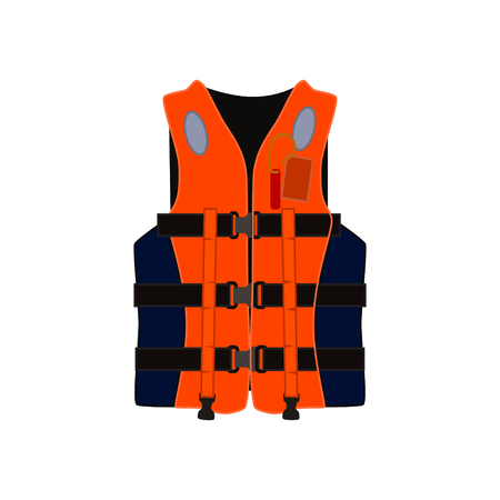 Inflatable life jacket vector illstration Illustration