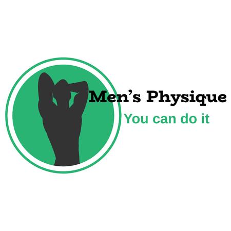 Mens physique design element for emblem, card and print, vector illustration.