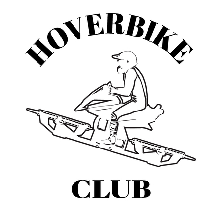 Hoverbike club vector design template.