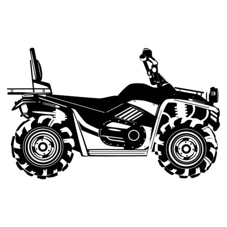 Quad bike vector black template