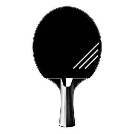 Table tennis racket silhouette, vector illustration
