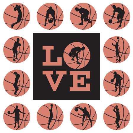 Love basketball print design template.