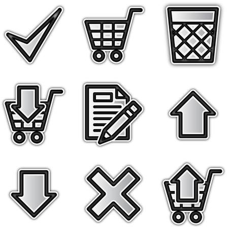 Web icons silver contour shop Ilustra��o