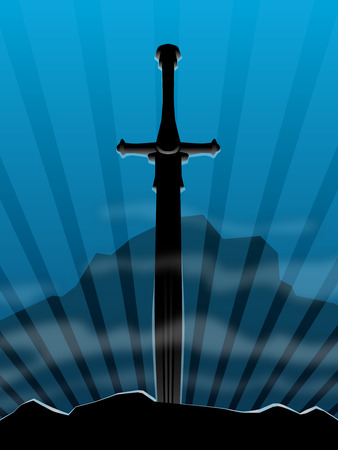 longsword: Background, sword in stone