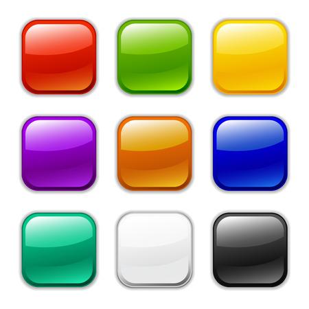 glossy button icon, samples Ilustra��o
