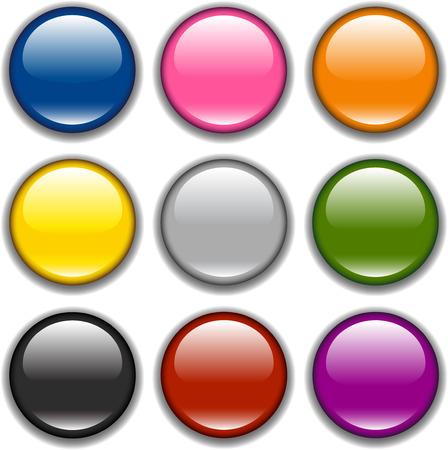 Shop button icon samples Vector