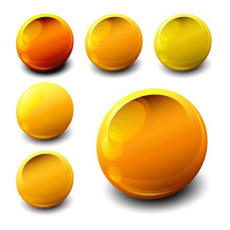 Golden nugget icons, samples Illustration