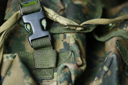 Military texture of tactical vest Stock Photo