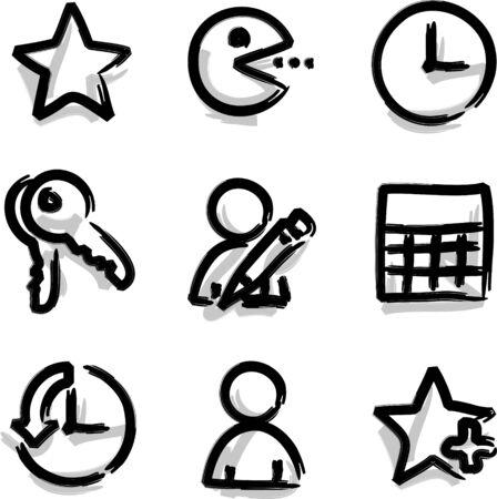 Web icons marker contour favorites Vector