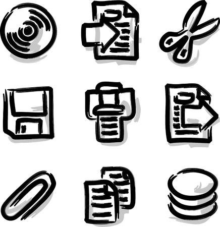 Web icons marker contour files