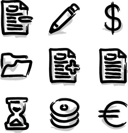 subscribe: Web icons marker contour various