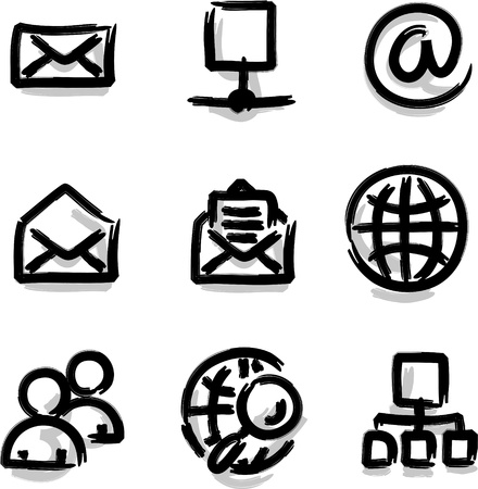 Web icons marker colour internet Stock Vector - 10364183