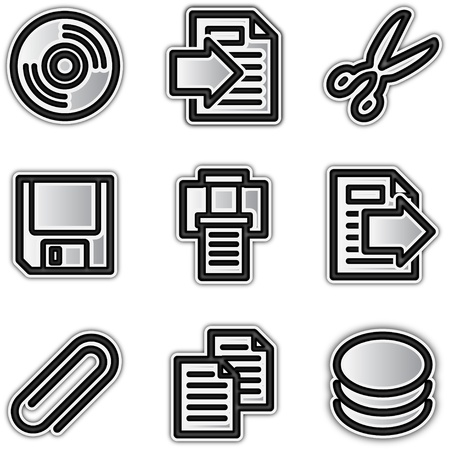 diskette: Web icons silver contour files