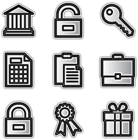 license: Web icons silver contour financial