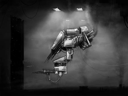 future scifi droid docks